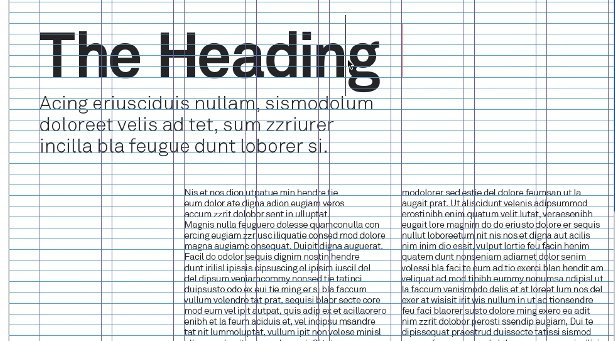 Make use of grids for typographical layouts