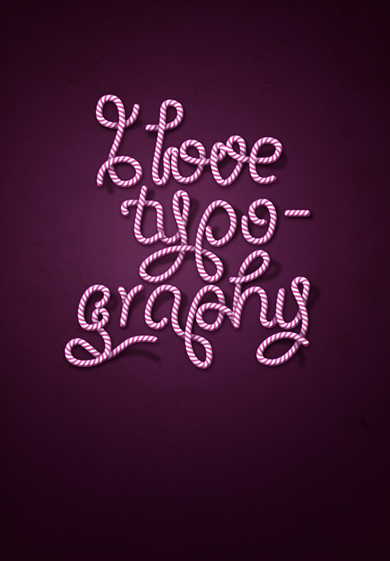 final designioustimes candy cane type tutorial How to Create Candy Cane Typography with Photoshop and Illustrator