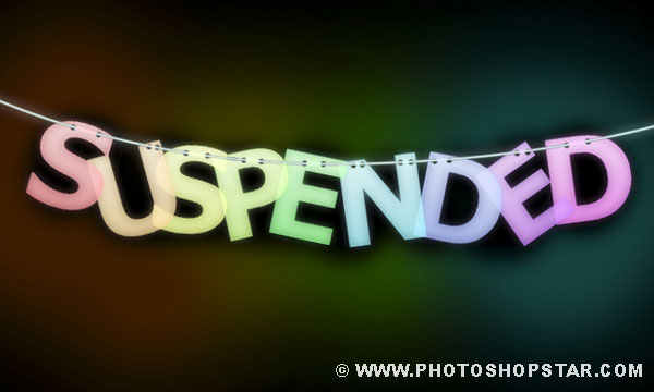 How to Create Suspended Text Effect