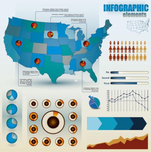 Infografía Economía Elementos de diseño