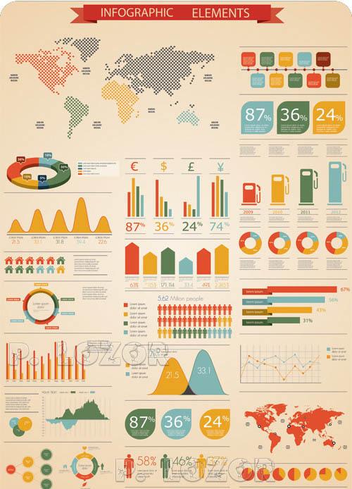 Elementos del vector Infografía