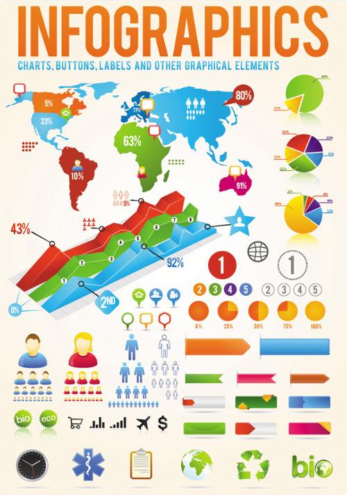 Elementos de diseño vectorial Infografía