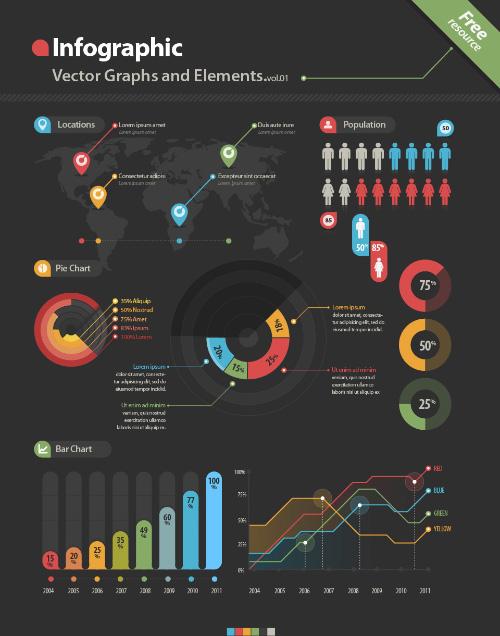 Kit Vector Infografía