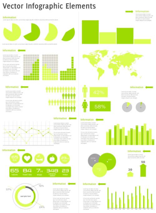Infografía elementos vectoriales