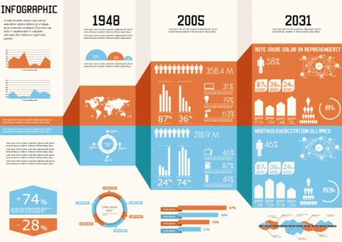 Año Elementos de Infographic