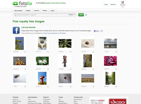 Imágenes libres de archivo libres (en Fotolia)