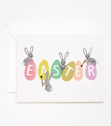 Busy Bunnies Easter Card