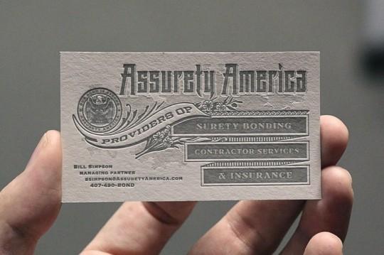 ASSURETY AMERICA BUSINESS CARD