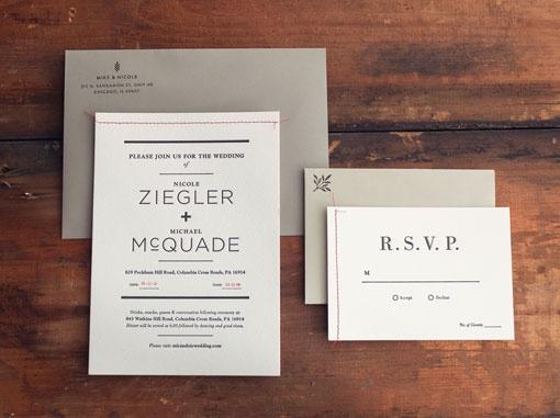 Nicole Zeigler & Mike McQuade: Wedding Materials