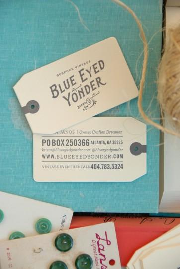BLUE EYED YONDER BUSINESS CARDS