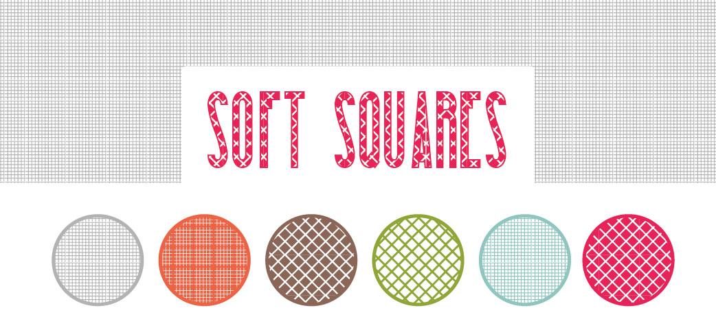 24 Motivos Illustrator: Soft Squares
