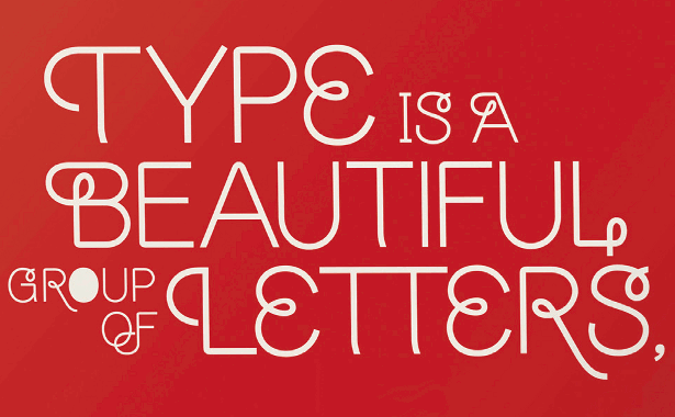 Use glyphs to create a striking typographic poster