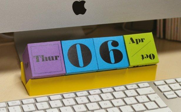 Create a 3D calendar with InDesign