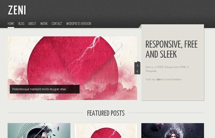 20 Plantillas WEB Responsive HTML / CSS Gratis