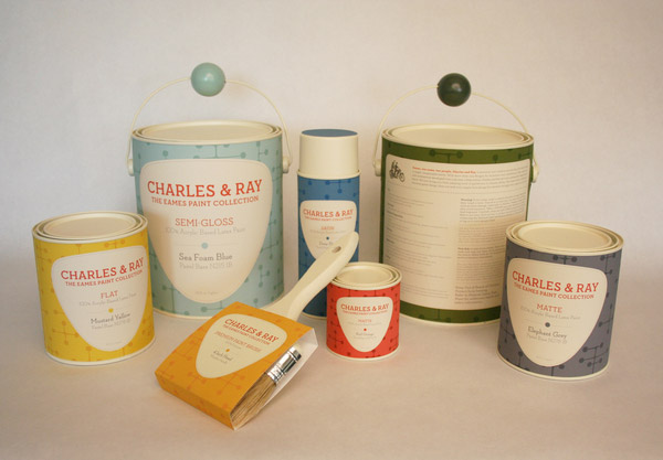 Charles & Ray Eames Paint Collection by Michael Andersen