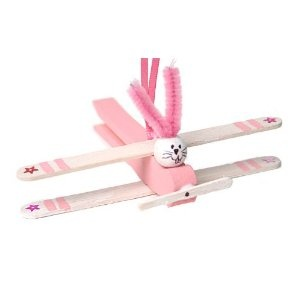 So cute! Easter Bunny Plane clothespin Craft Kit