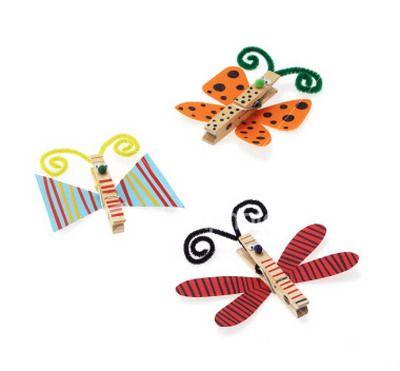 pinza ropa mariposa