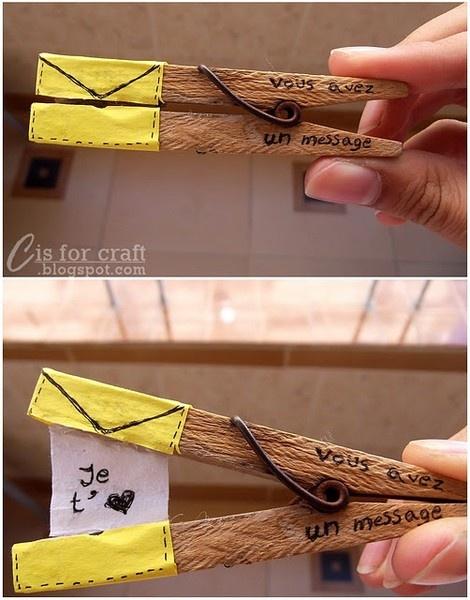 Pinces à message ! fortune clothespin  :P