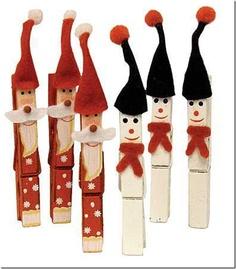 Manualiades de Navidad con pinzas de la ropa