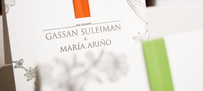 Invitaciones Gassan & María