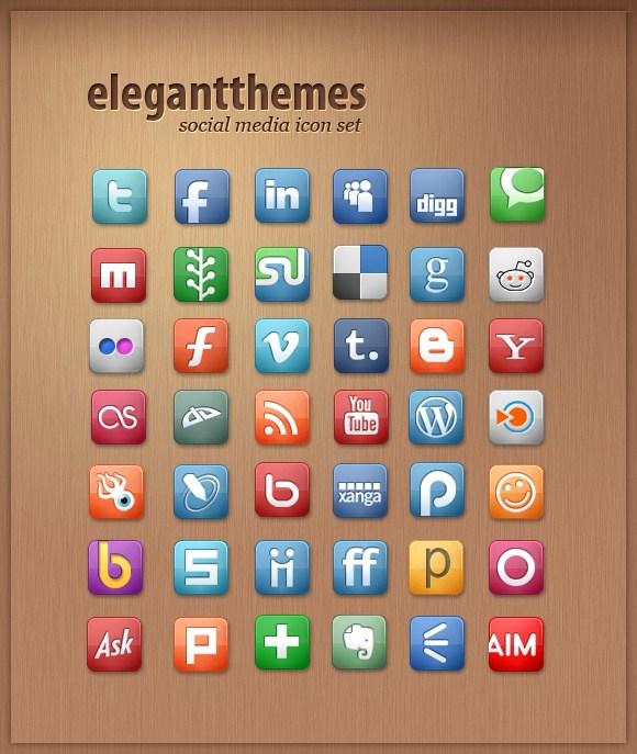 Iconos gratis Medios de Comunicación Social