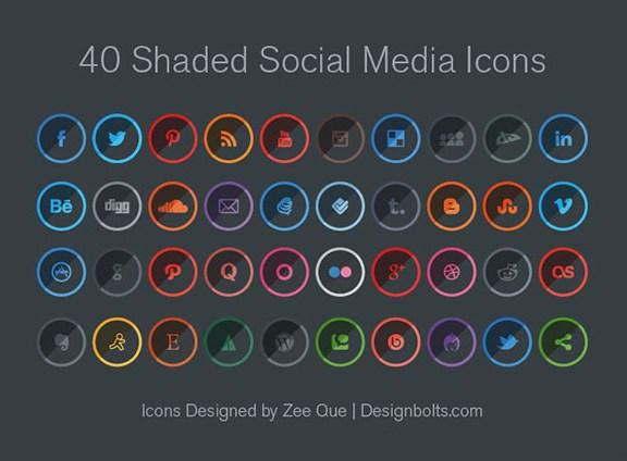 Sombreadas Social Media Icons