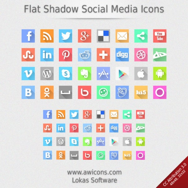 Piso Sombra Social Media Icons