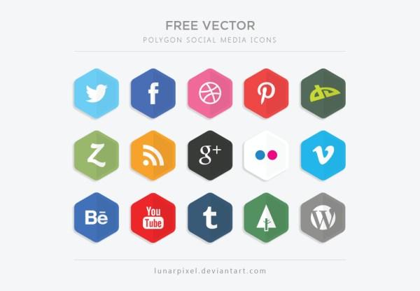 Polígono Iconos de medios sociales