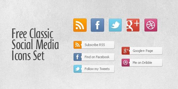 Social Media Icons Classic