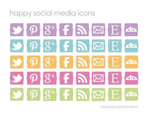Feliz Social Media Icons