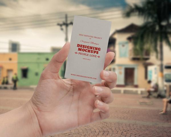 Tarjeta de visita Maqueta Mano