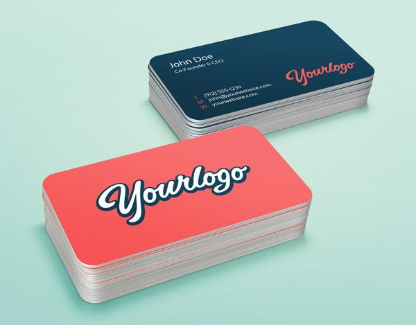 Pila de tarjetas de visita Maqueta