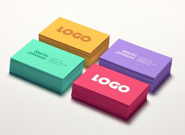 Colorful Card Maqueta de negocios