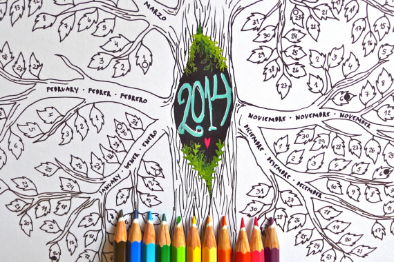 20 Auténticos Calendarios 2014