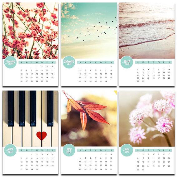 calendario 2014 calendario fotografía inspirado vintage 4 x 6 5 x 7 escritorio con calendario de fotografía de caballete artísticas fotografía naturaleza botánica playa