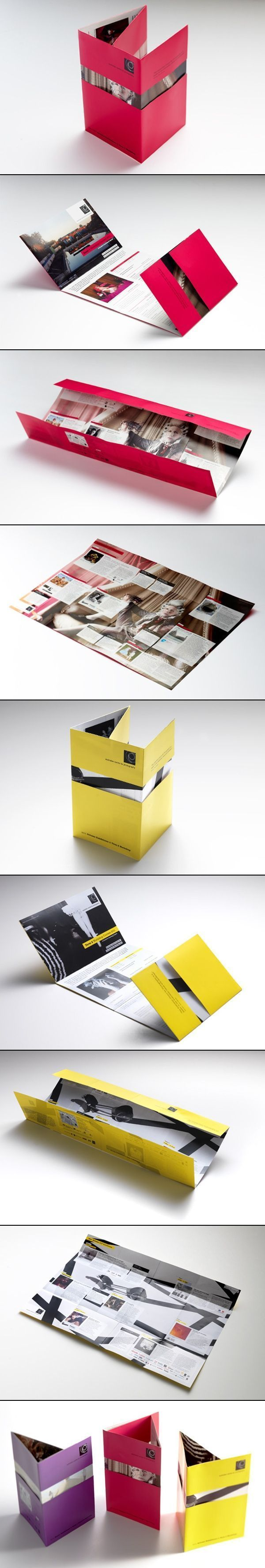Interesting multi fold poster brochure – nifty idea for revealing designs