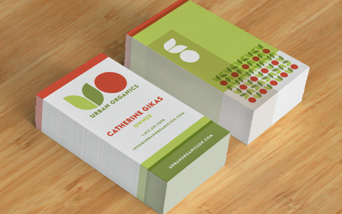 urban organics business cards