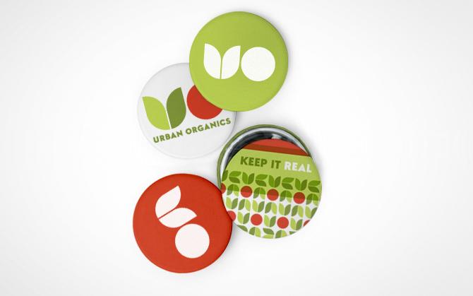 urban organics buttons